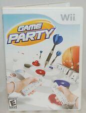 Nintendo Wii Game Party Video Game - Darts Table Hockey Shuffle Board & Trivia B