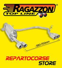 RAGAZZON TERMINALE SCARICO SDOPPIATO 2x70mm ALFA MITO 1.3 JTDm 66kW 90cv 09/08->