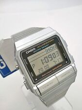CASIO DataBank Watch 30 Memory Dual Time Multi Function Alarm Timer DB380 Silver