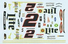 #2 Brad Keselowski Lite Fusion 2014 1/25th - 1/24th Scale Waterslide Decals