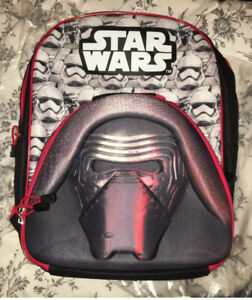 KYLO REN Starwars Backpack with Detachable Lunchbag. BNWT