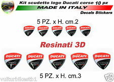 Adesivi ducati corse scudetto in gel 3D decal stickers resinati (V339)