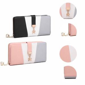 Miss Lulu Ladies Women Faux Leather Clutch Bag Purse Long Card Package Wallet