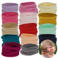Headband 10Pcs for Baby Elastic Hairband DIY Soft Nylon Head Band