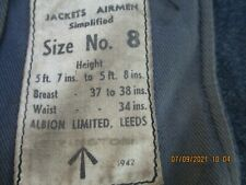 More details for genuine ww2 raf wraf uniform jacket & trousers dated 1942