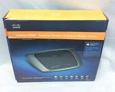CISCO Linksys X3000 Wireless Modem Router ADSL2+ 802.lln USB 300Mbps
