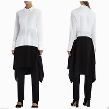 NEW BCBG MAX AZRIA RUNWAY WHITE COMBO HONOR JUMPSUIT SBS9C598 SIZE 2 $548.00