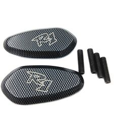 Mirror Block Off Base Plates Carbon For 2000-2008 Yamaha R1 Yzf-R1 Yzfr1