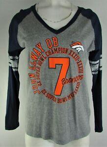 Denver Broncos NFL Women's G-III #7 John Elway Long Sleeve V-Neck Shirt