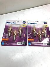 Philips 469676 40W Soft White Dimmable Candelabra LED Light Bulb - 2 Packs of 3