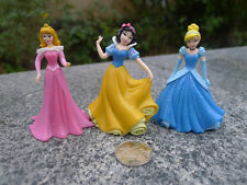 Disney Princess 8cm PVC 3pcs Aurora/snow White/cinderella Figures Loose