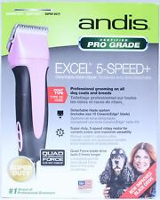 Andis ProClip Excel 5-Speed+ Detachable Blade Clipper - Pink