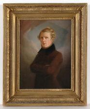 "Franz Krueger (1797-1857)-Attrib. ""Portrait of a gentleman"", oil on canvas, 1820"