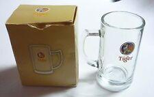 "TIGER BEER Mini Short MUG GLASS Clear 2010 Shot 3.5"" Malaysia Asia Collect"