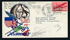 World War II Patriotic cover Italy's Surrender May 4 1945 APO airmail censored