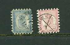 Finland #4 & #5 (Fi706) Coat of Arms 1860 (1) tooth missing on #4,U, Cv$257.50