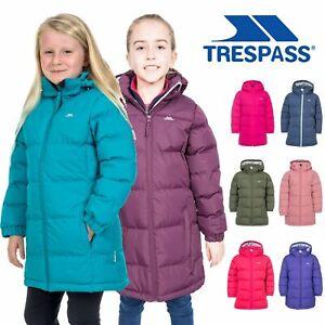 Trespass Tiffy Girls Puffa Jacket Childrens Padded School Coat Childs 2-12 Years