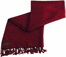 Burgundy High Grade 100% Cashmere Shawl Scarf Shawls Hand Made from Nepal *NEW*