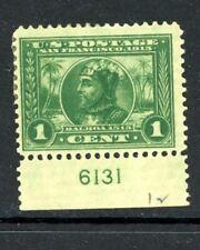 US Scott # 397 - MH - Plate # Single - CV=$16.50