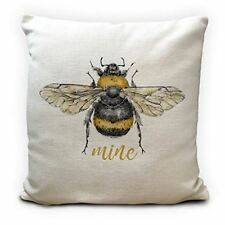 Bumble Bee Gift Cushion Cover | Heavy Linen Material | 40cm 16 inches | Bee Mine