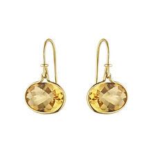 Georg Jensen 18k Gold Ear Hooks with Citrine #1506A - Savannah