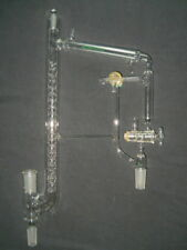 "Chemglass 10/30 & 24/40 Joints Jacketed Vigreux Vacuum Distilling Head (21.5"" H)"