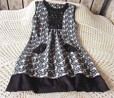 Grey & black jersey cotton mix tunic dress YUMI Size M & 10 Floral Beads Sequins