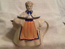 * Vintage USA Pottery Granny/Old Woman/Lady Teapot