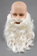 Santa Claus Father Christmas Beard & Moustache Tash Wizard Fancy Dress Costume