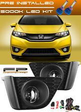 LED + 2015-2017 Honda FIT Driving Clear Fog Lights Complete Kit Switch & Harness
