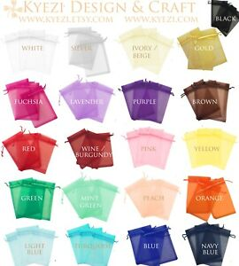 "4""x6"" Sheer Drawstring Organza Bags Jewelry Pouches Wedding Party Favor Gift Bag"