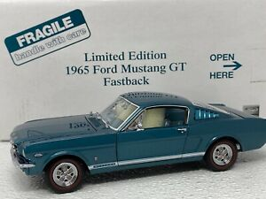 1/24 Danbury Mint 1965 Ford Mustang Mustang GT TEAL Limited Rare READ ME
