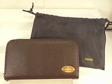 Auth FENDI Zip-around Wallet Selleria Calf Brown Brand NEW WITH TAGS $940.00!!!!