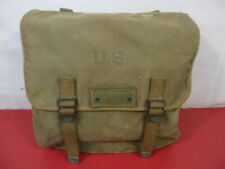 WWII Era US Army/USMC M1936 Canvas Musette Bag - OD Green Color 1945 - NICE #3