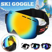 Skiing Snowboarding Goggles Double Lens Anti-fog Wind Dust UV Snow Ski Sun Glass