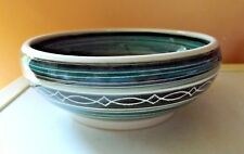 Totland Bay Isle Of Wight Studio Pottery Bowl Signed Kenneth A. Scotcher