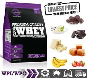 1KG - WHEY PROTEIN ISOLATE / CONCENTRATE POWDER - Choose Flavour