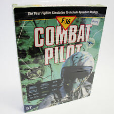 F-16 Combat Pilot Atari ST 520 / 1040 Game Retro TESTED WORKING FREE FAST SHIP