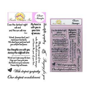 In Sympathy Stamps Words Frantic Stamper Clear Cling Stamp Sentiments