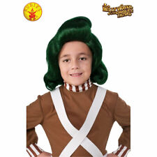 Oompa Loompa Costume Green Wig Boys Child Charlie & Chocolate Factory Willy Wonk
