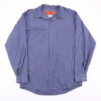 Vintage RED KAP Blue Stripe Casual Worker Shirt Size Men's Large