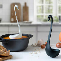 Swanky Floating Ladle Kitchen Cooking Ototo Swan Black White Pink Geniune Cook