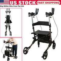 Upright Stand Up Folding Rollator Walker with Seat Aluminum Rollator Walker Tool