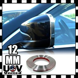 For SUV Chrome Molding Trim Exterior Guard Window Side Door Strip Roof 12mm 3m
