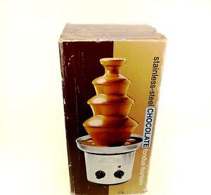 Nostalgia CFF-990 4 Tier Stainless Steel Chocolate Foundue Fountain