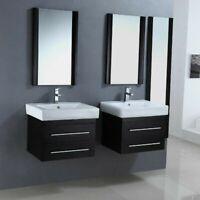 White Ceramic Wall-Mount/Self Rim Rectangle Bathroom Sink Single Hole ADA Spec
