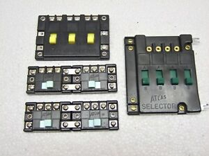 Lot of 6 Atlas HO Controls: 4 Switch Control Boxes, 1 Selector, 1 Connector