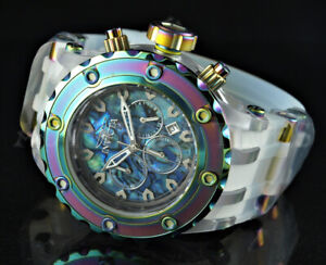NEW Invicta 52mm Subaqua ABALONE Chrono IRIDESCENT BEZEL Translucent Strap Watch