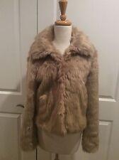 EXPRESS Womens Faux Fur Short Coat /Jacket Beige Size Medium