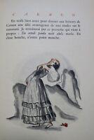 MERIMEE Carmen. Illustrations de José de Zamora ex. H. C.